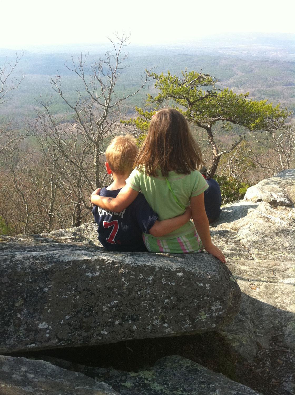 Analise and Josiah - rock climbing buddies
