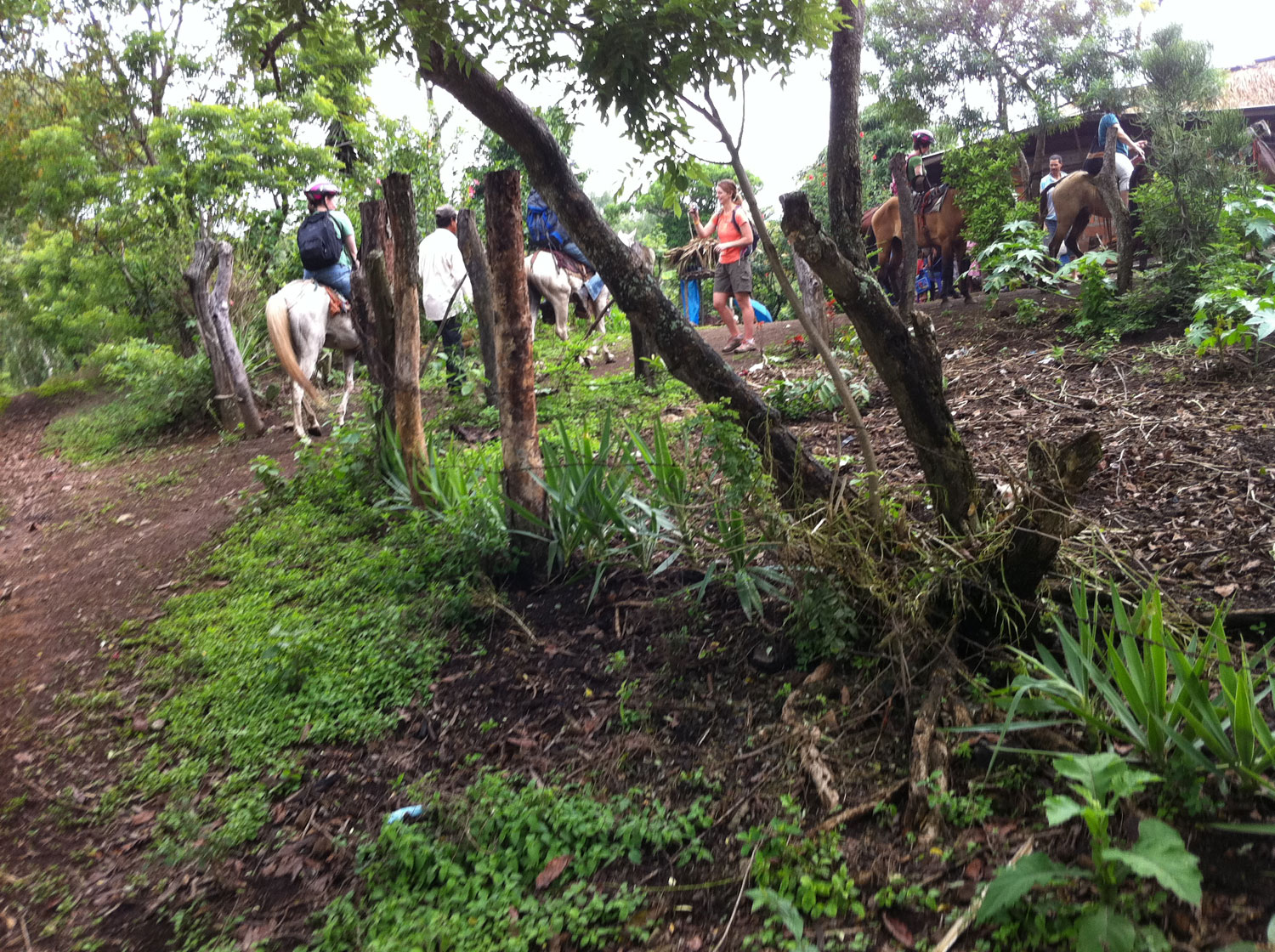 Arriving at the upper houses of the community where we had almuerzo (lunch) prepared by the members of the community.