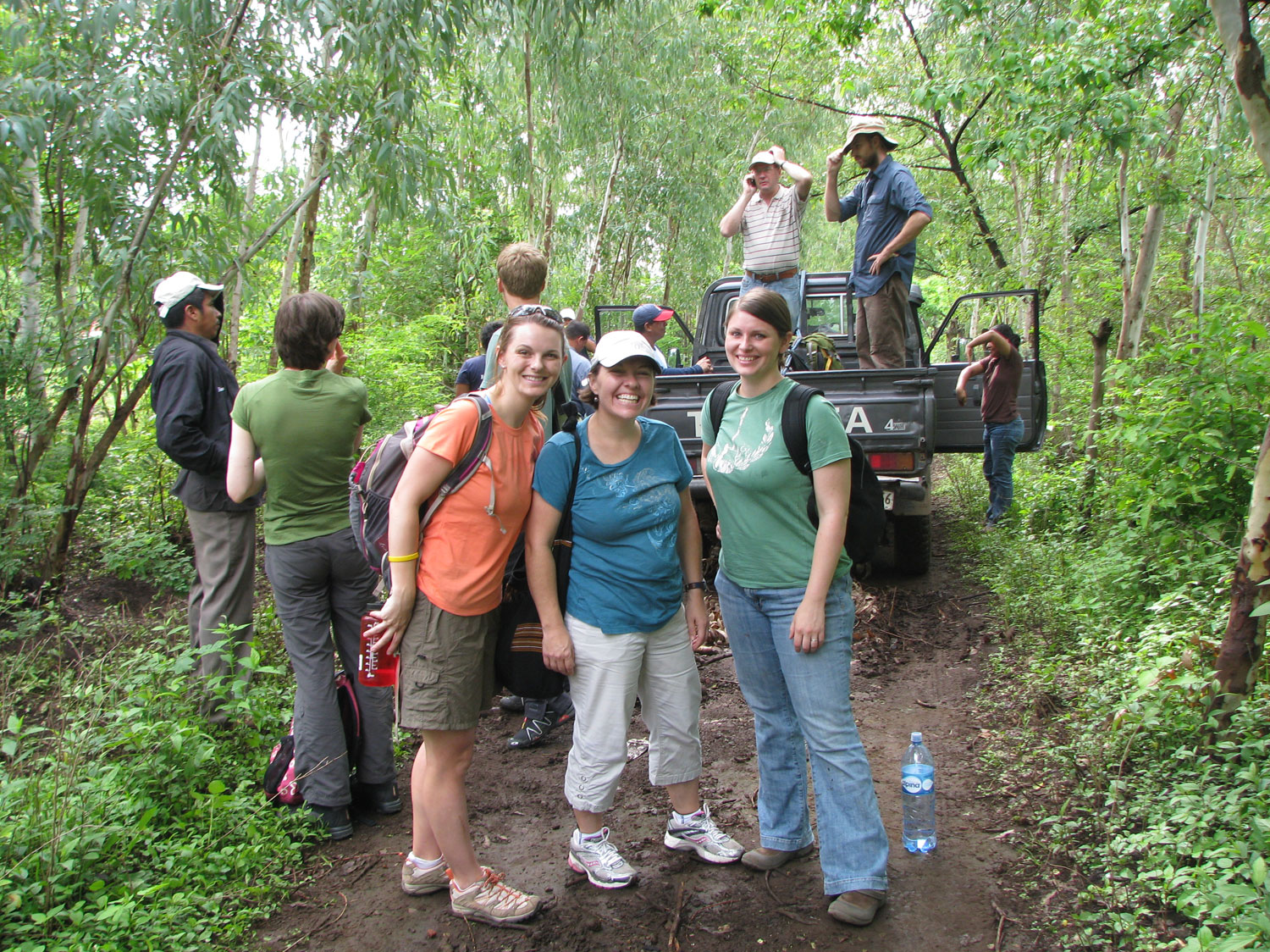 Preparing to journey on the road up the volcano to the hillside community of El Ojochal