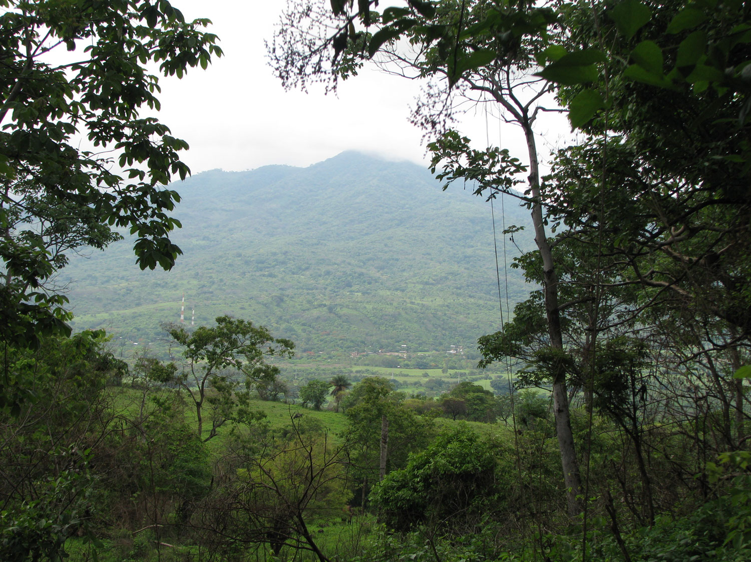 A view looking towards Volcan Rota across from the Gracias a Dios community