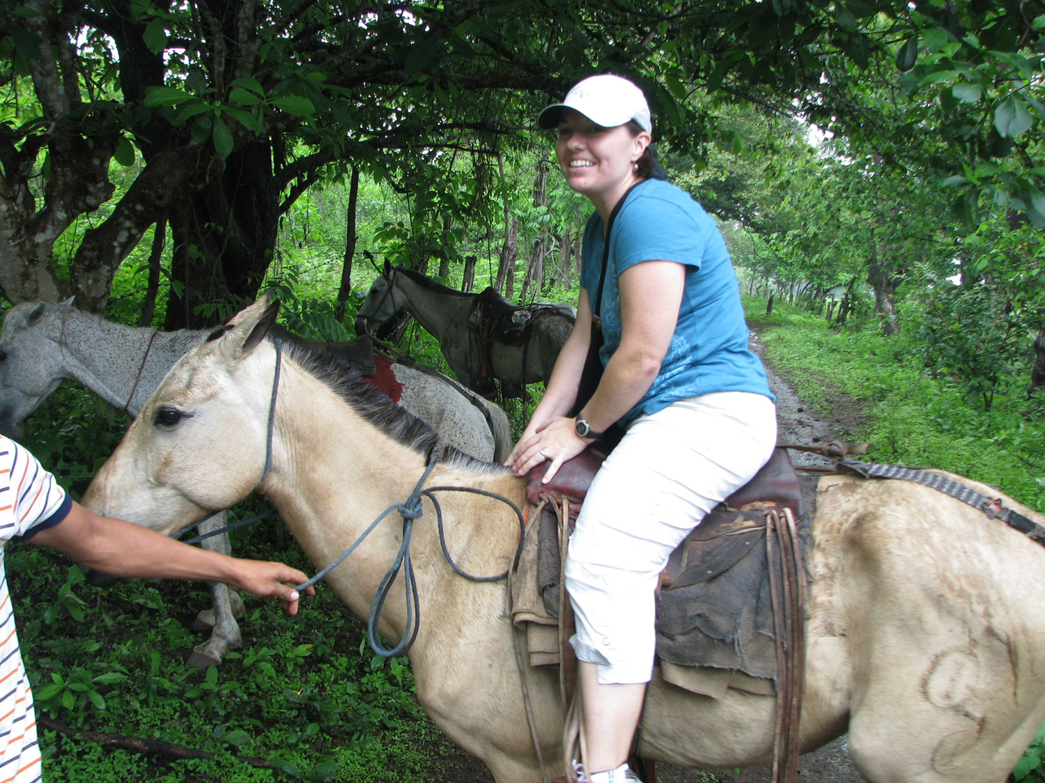 Kristine braved the horse ride up to the top (I did too!)