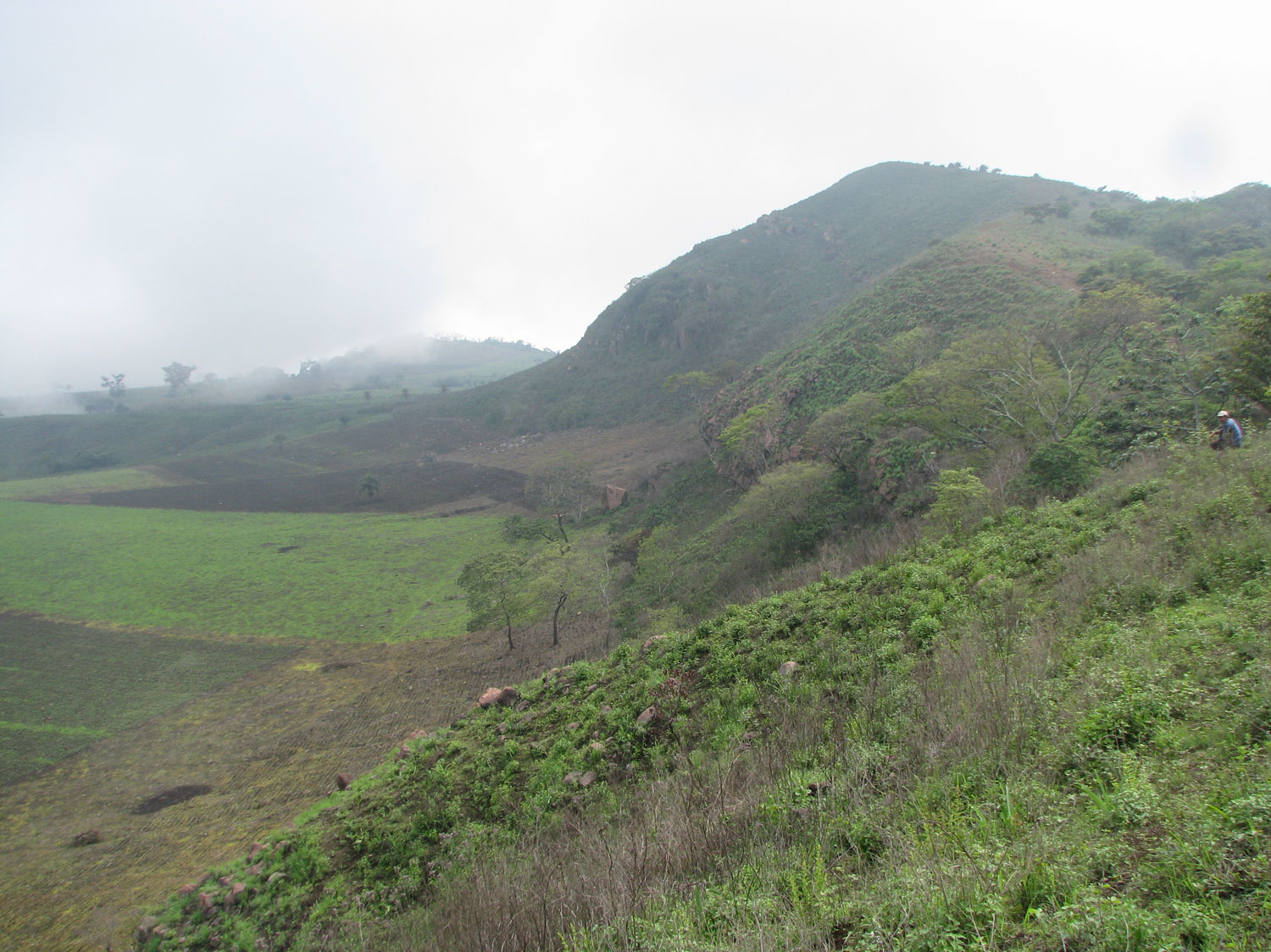 The hillside summit with a good view of the crater