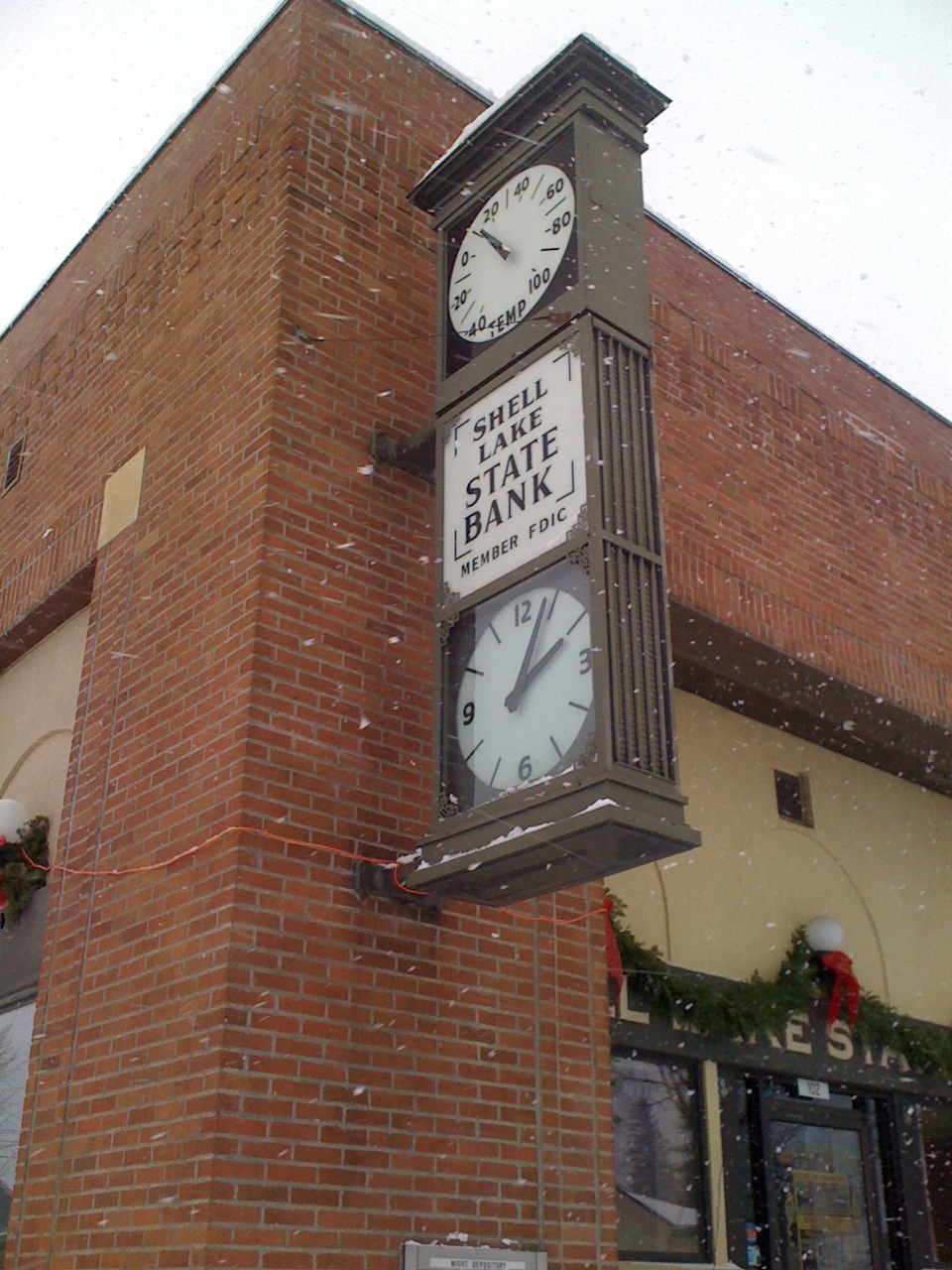 The town bank reports 12 degF, the actual temperature was closer to 23 degF