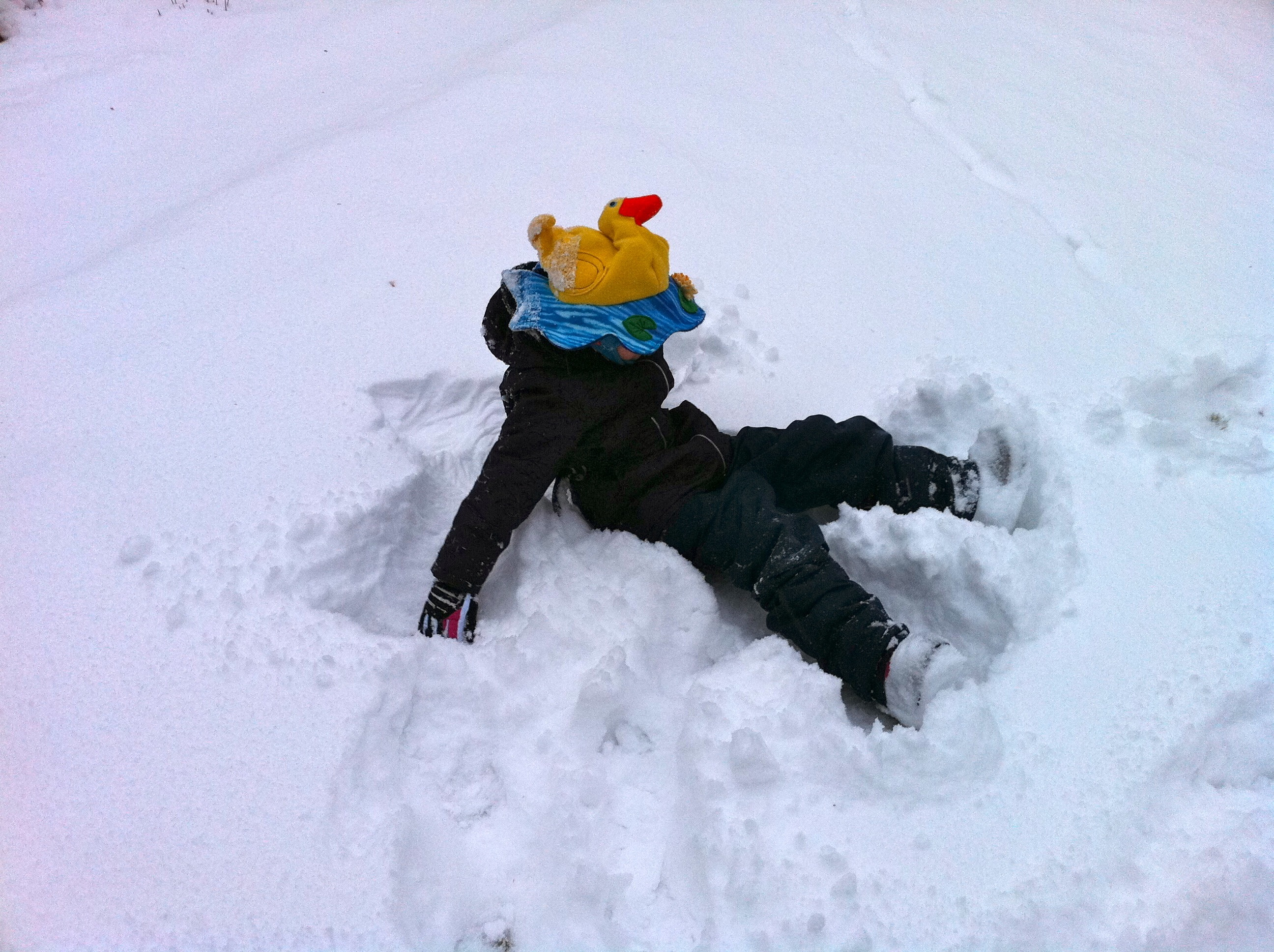 The making of a snow angel